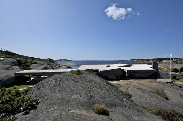 Дома в скандинавском стиле: проекты и фото каменного дома среди скал
