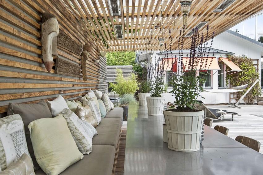 Скандинавский стиль в архитектуре и в интерьере красивого шведского особняка