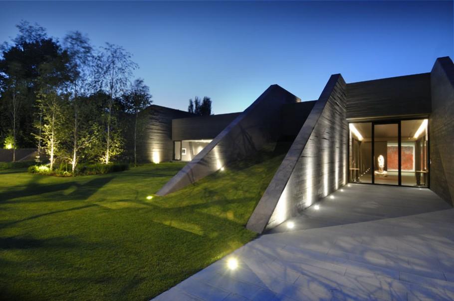 luxury poperty in madrid by a cero architects 02 В испанской столице Мадриде разместилась очаровательная резиденция Concrete House ll на окраине города от студии A cero Architects