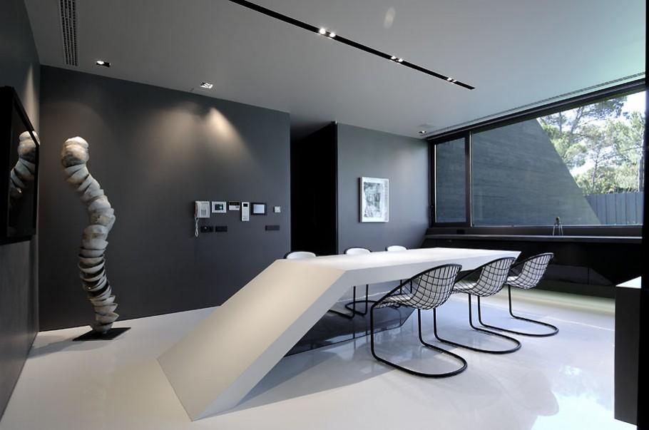 luxury poperty in madrid by a cero architects 09 В испанской столице Мадриде разместилась очаровательная резиденция Concrete House ll на окраине города от студии A cero Architects