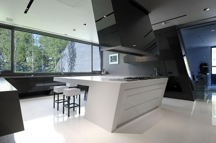luxury poperty in madrid by a cero architects 10 В испанской столице Мадриде разместилась очаровательная резиденция Concrete House ll на окраине города от студии A cero Architects