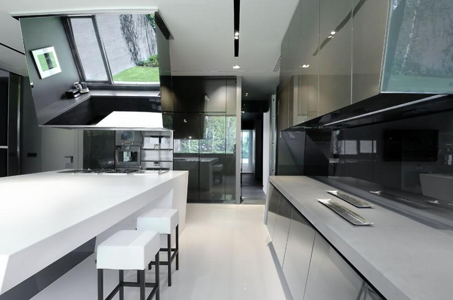 luxury poperty in madrid by a cero architects 11 В испанской столице Мадриде разместилась очаровательная резиденция Concrete House ll на окраине города от студии A cero Architects