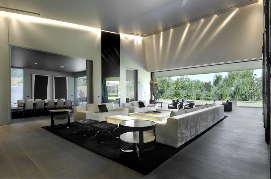 luxury poperty in madrid by a cero architects 12 В испанской столице Мадриде разместилась очаровательная резиденция Concrete House ll на окраине города от студии A cero Architects