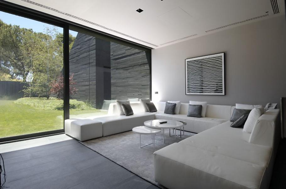 luxury poperty in madrid by a cero architects 17 В испанской столице Мадриде разместилась очаровательная резиденция Concrete House ll на окраине города от студии A cero Architects