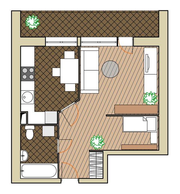 Планировка недели: однушка в доме серии ii-68 главное достои.