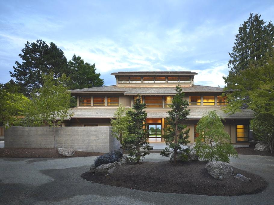 Архитектура Америки: дом Contemporary Engawa House в японском стиле