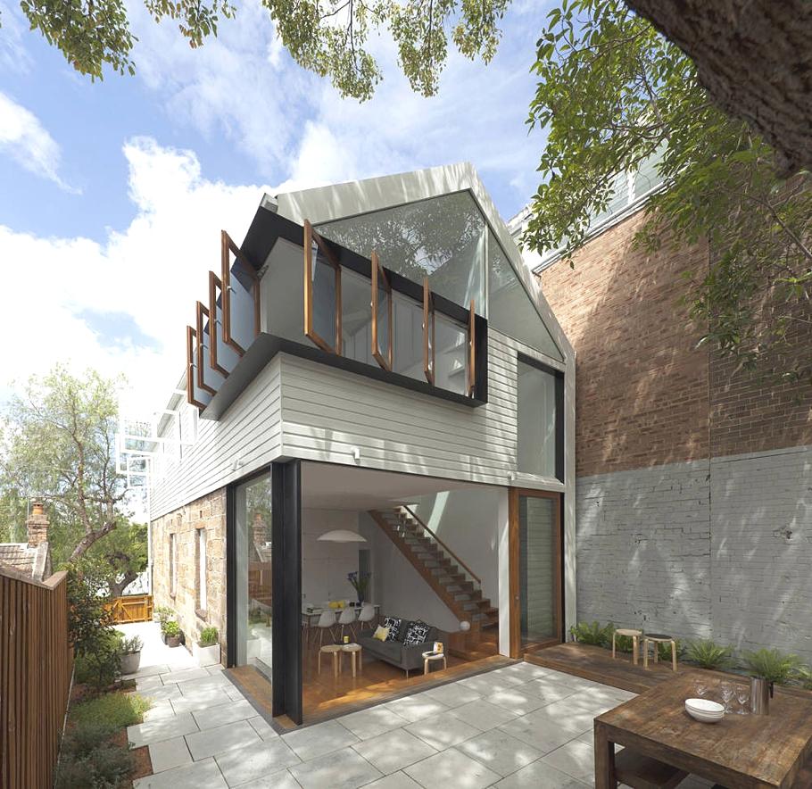 Дизайн интерьера двухэтажного дома Elliott Ripper House