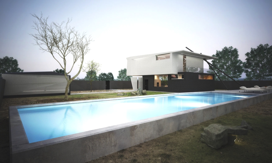 Красивые современные дома: минималистичный особняк в Молдове