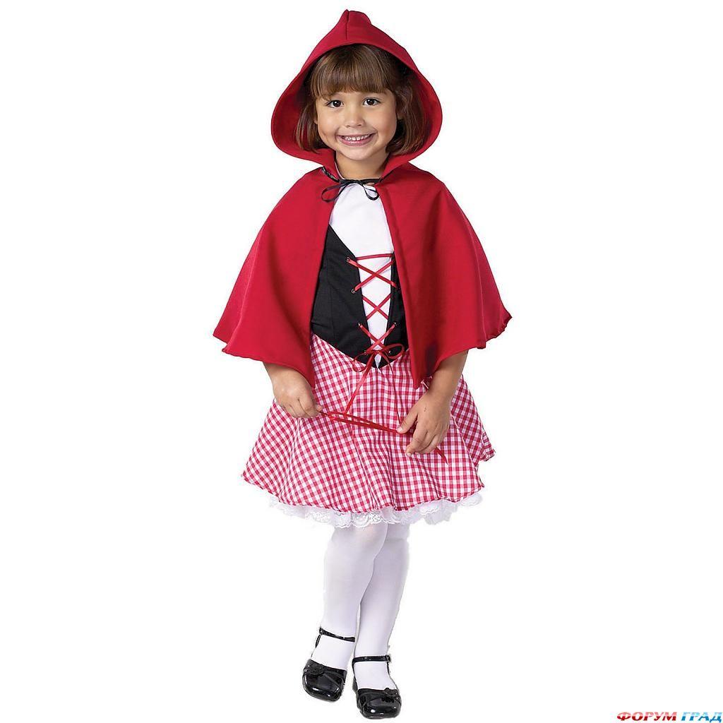 Как сшить костюм красная шапочка для девочки