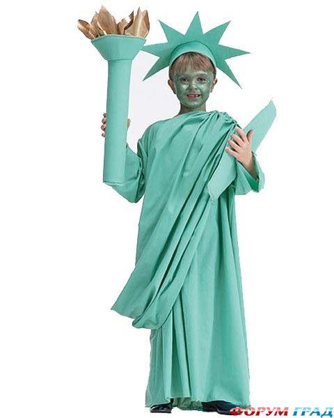 Костюм статуи свободы своими руками