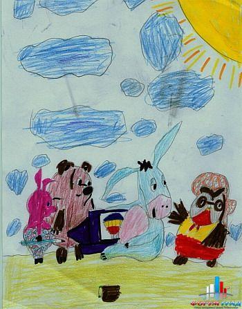 рисунки карандашом детские космос