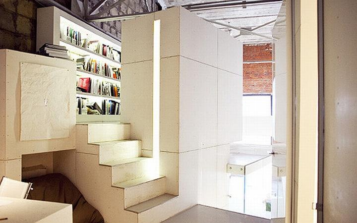 nefa research office moscow 05 Необычный дизайн офиса Nefa Research с барной мебелью