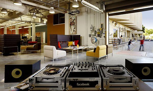 Эксклюзивный дизай интерьера офисов Google и Facebook