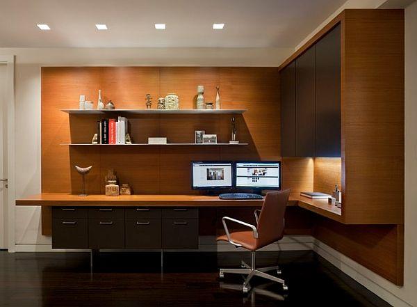 Оригинальный дизайн домашнего офиса