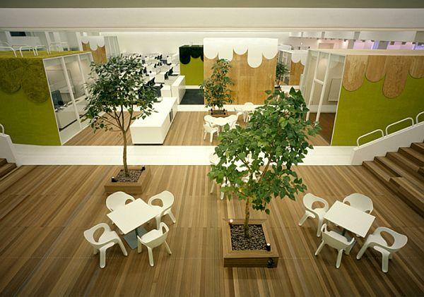 Эксклюзивный дизай интерьера офиса рекламного агентства TBWA Hakuhodo в Японии