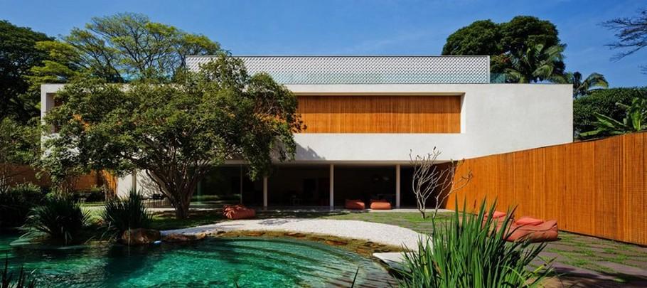 Красивые современные дома: яркий минимализм Cobogó House