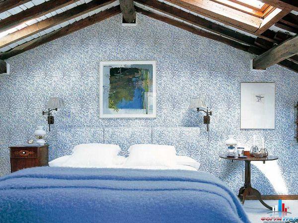 Спальня в мансарде Домашний дизайн.