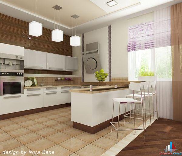 с барной стойкой фото кухни с барной