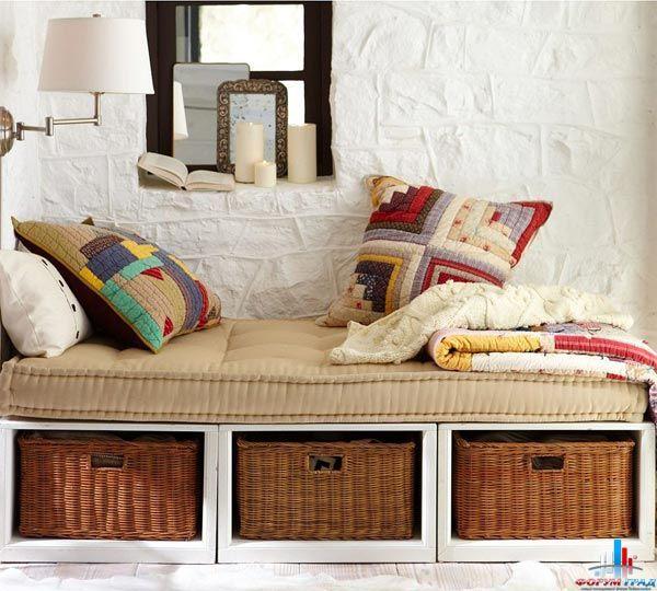 закрытый стеллажи для хранения постельного белья фото