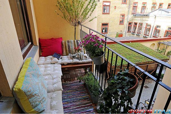 объединение кухни с балконом фото