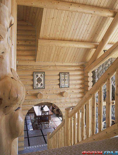 Интерьер деревянного дома фото град