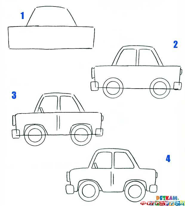 схемы рисования автомобиля