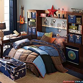 Несколько замечательных комнат для мальчиков в спортивном и музыкальном...