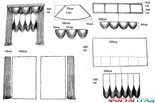 шторы схемы