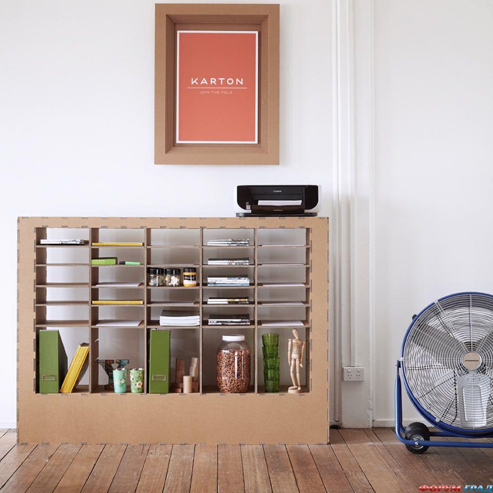 Мебель из картона с выкройками