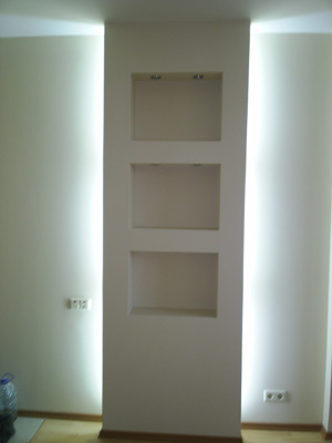 Внутренняя отделка стен. идеи потолков из гипсокартона.