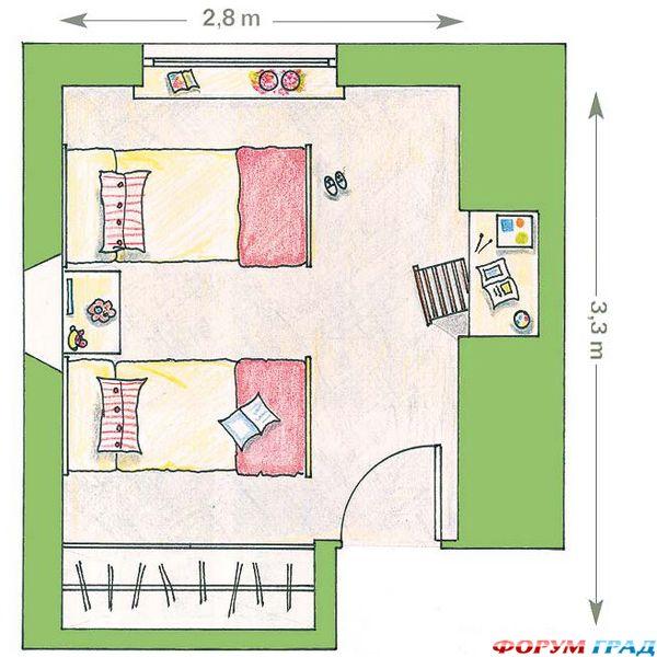 Дизайн комнаты для подростка 12 кв м