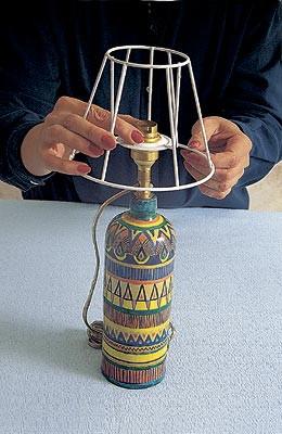 Как сделать абажур для настольной лампы своими руками видео