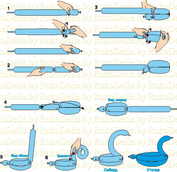 Фигуры из шаров своими руками пошаговая инструкция видео