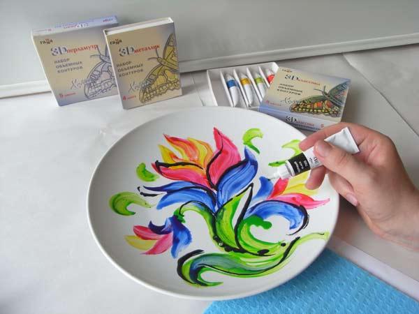 Что нарисовать краской по керамике