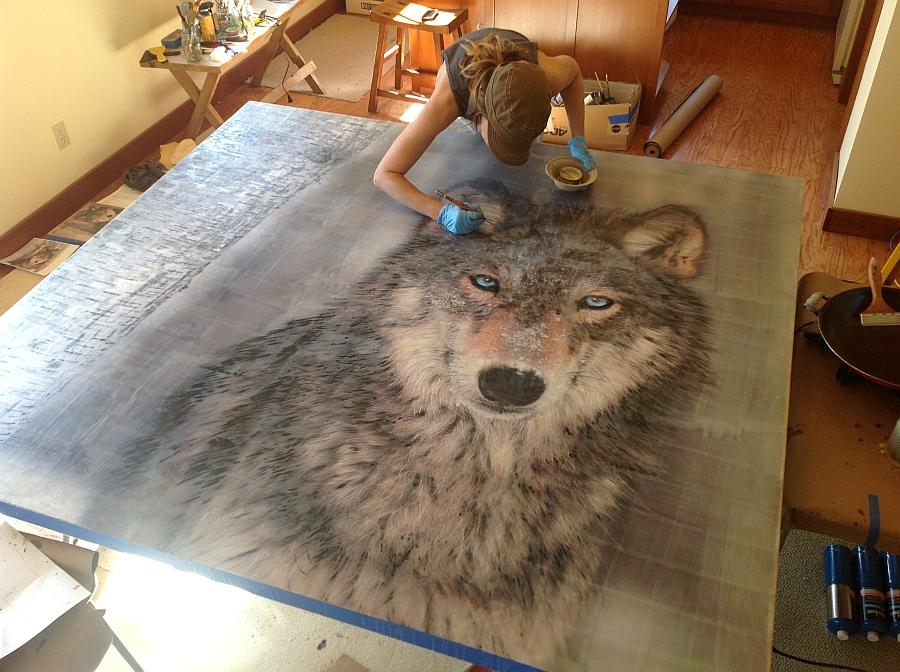 Рисунок волка Theresa Stirling