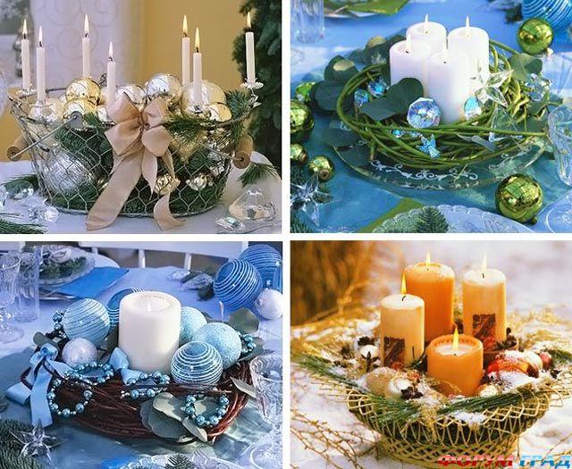 Как сделать новогодние свечи своими руками фото