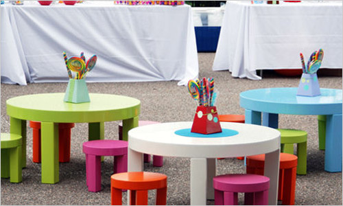 Украшение стола на детский праздник