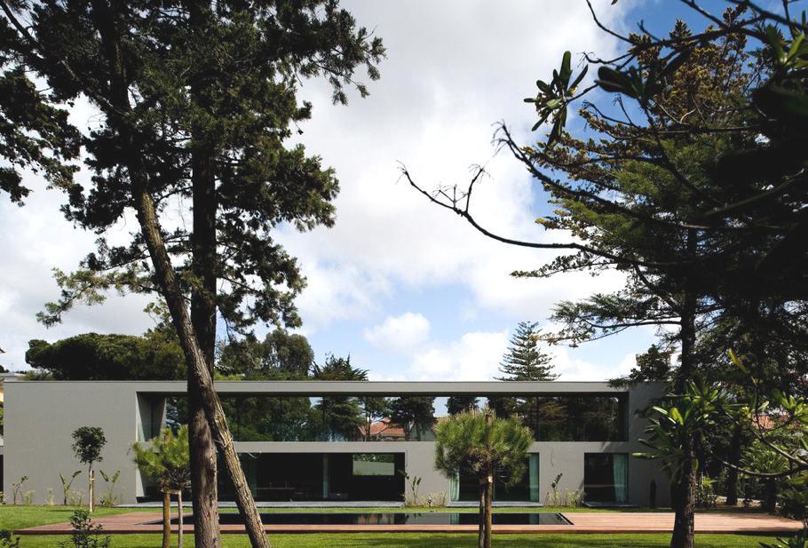 Современный дизайн частных домов: португальский особняк среди природы