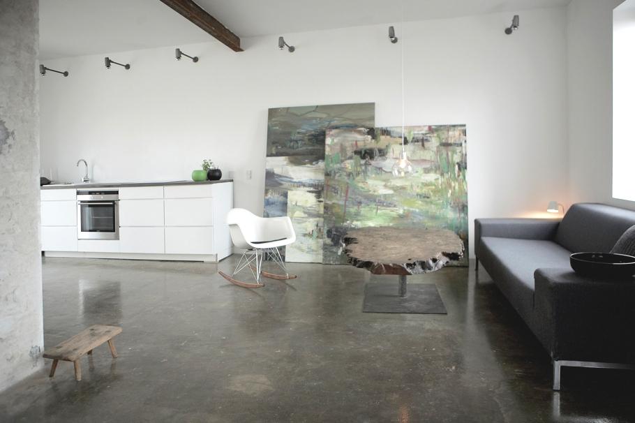 Датский дизайн интерьера в доме художника