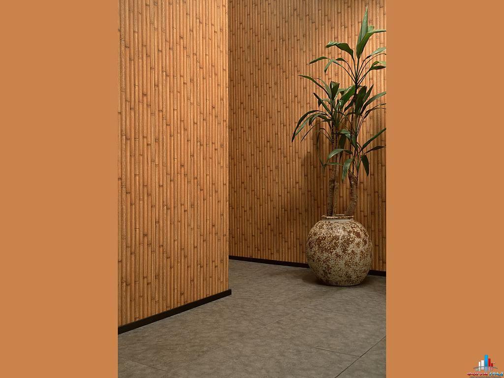 Отделка стен бамбуковым полотном фото 6