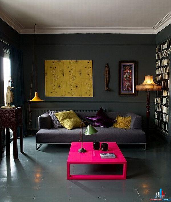 Дизайн темной комнаты фото