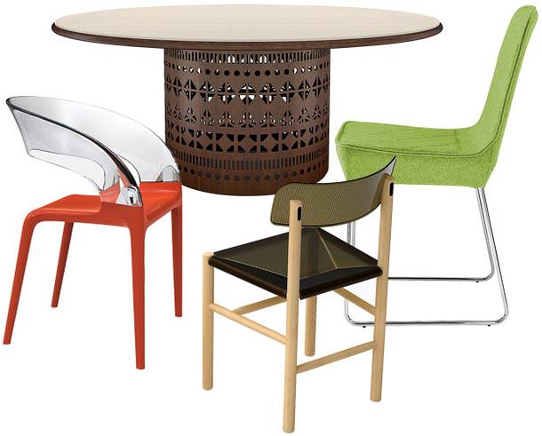 Стул Ring, столик Dogon, стульчик Trattoria