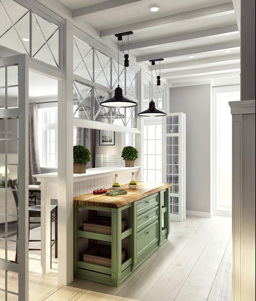 Дизайн зеленая гостиная