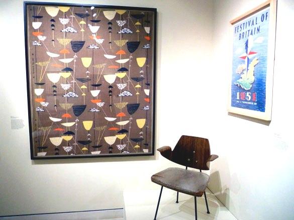 Люсьен Дей. Ткань для мебели Calyx по заказу компании Heal, 1951