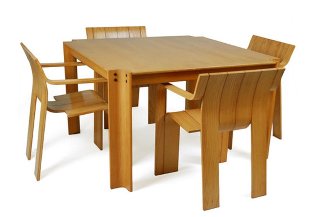 Гийс Баккер. Стол и стулья из коллекции Srtip