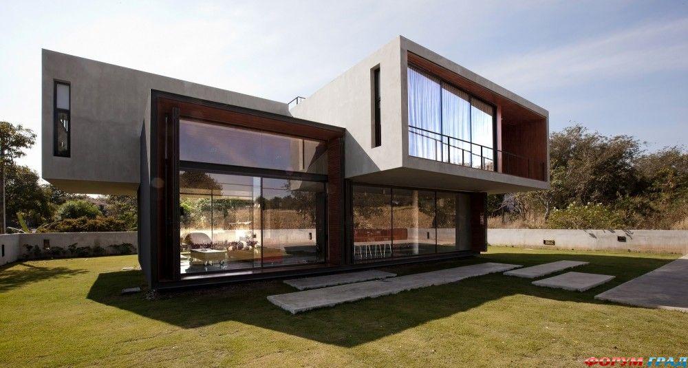 Дома бетон стекло толщина тощего бетона что это