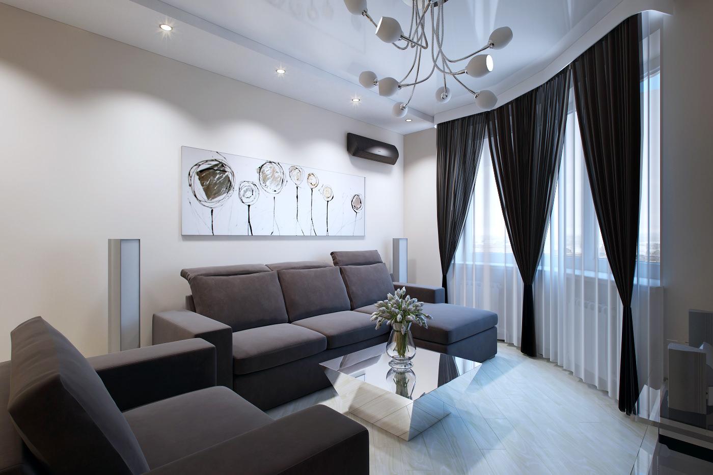 Дизайн интерьера трехкомнатной квартиры 70 кв