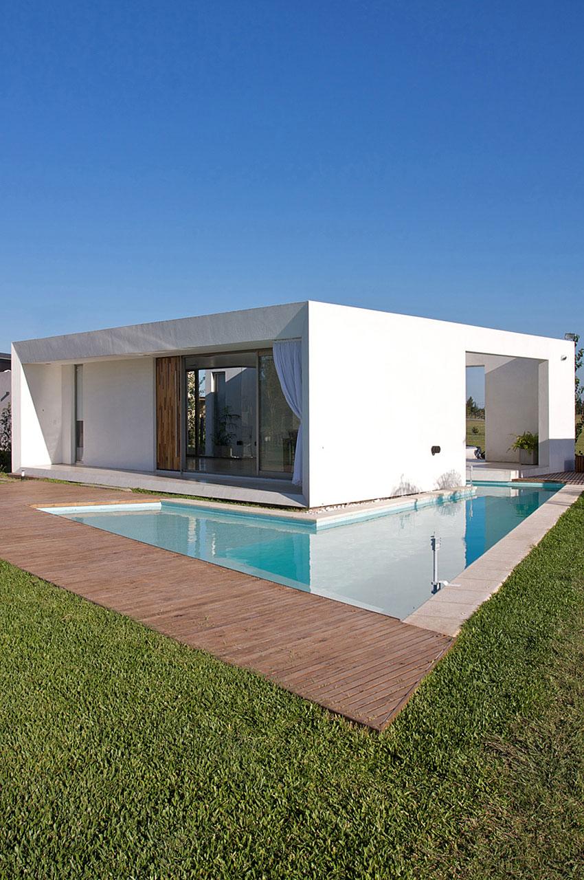 Великолепный летний коттедж в стиле минимализм