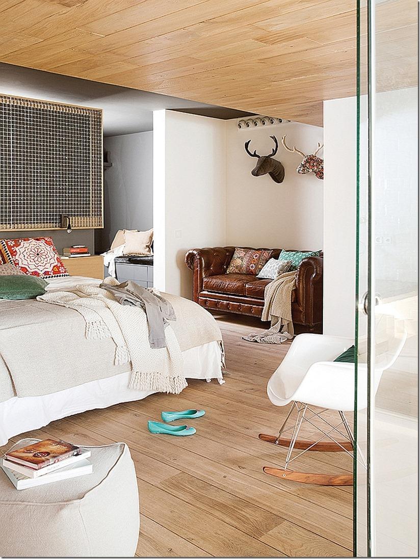 Дизайн спальни в более современном промышленном стиле