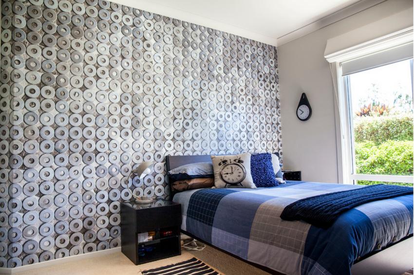 Подростковая спальня в промышленном стиле